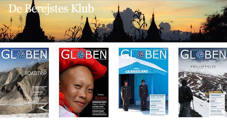 """""""Globen"""" og medlemsskab af De Berejstes Klub som præmie på Rejsejulekalenderen 2014"""