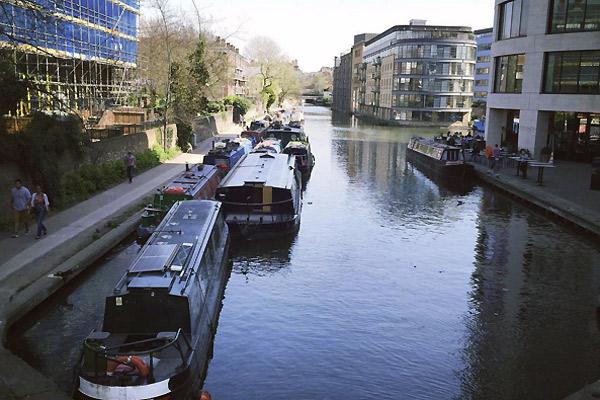 Camden kanaler i London
