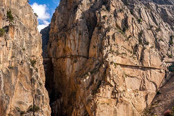 Dalen ved Caminito del Rey i Spanien