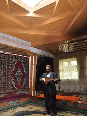 Et typisk pamirhus i Tadsjikistan