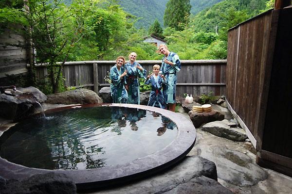 Et sidste Onsen bad i Japan