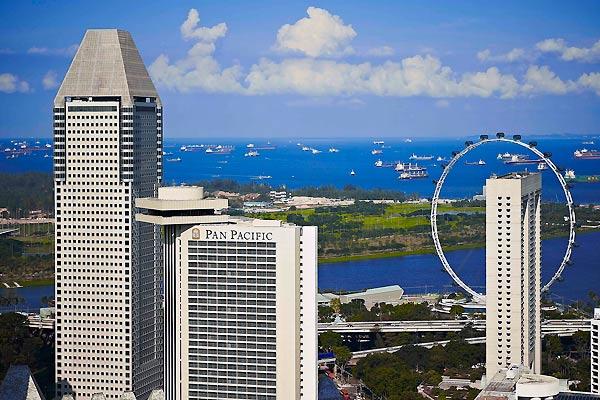 Udsigt over Singapore