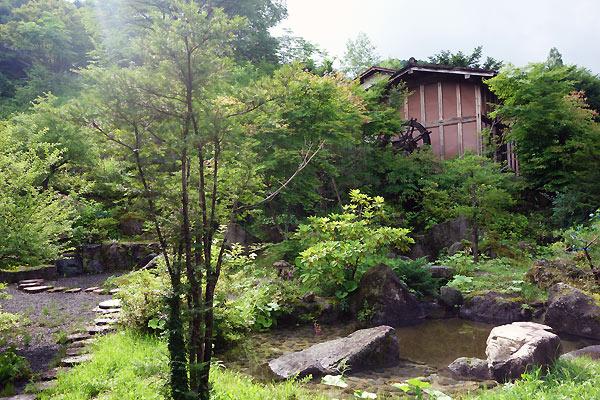 Omgivelserne nær Ryokan i Japan