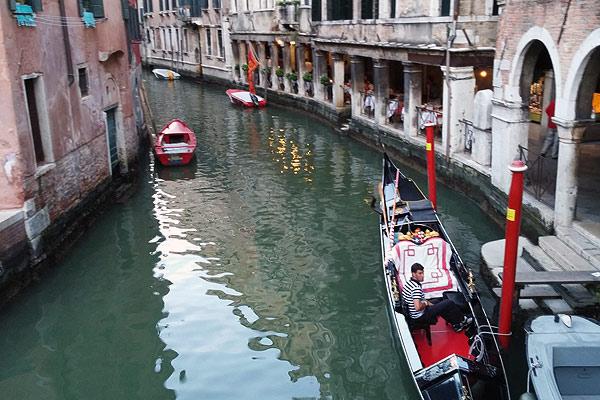 Venedig og gondoler