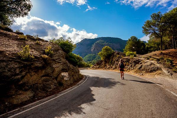 Camilla på vejen i Spanien