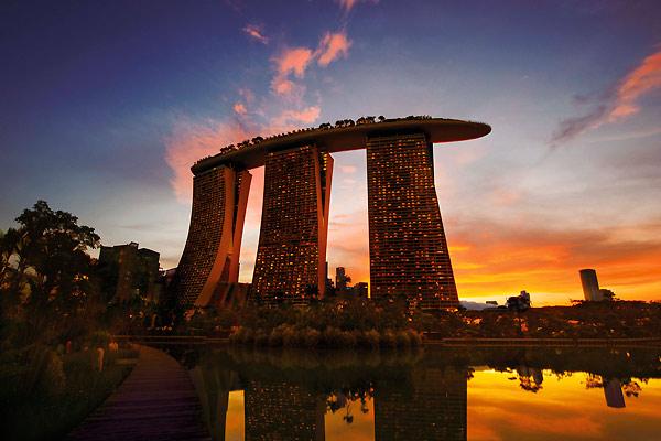 Smukt hotel i Singapore