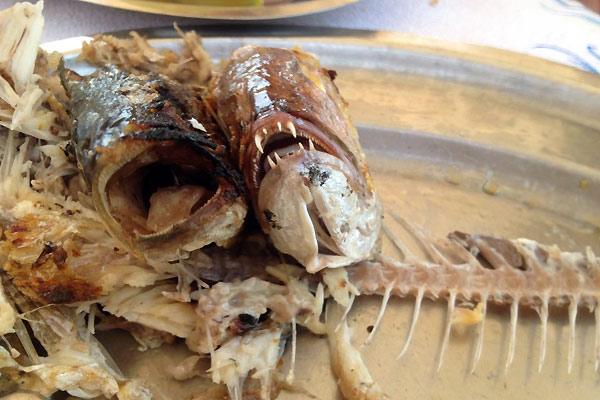 Fisk på restaurant i Grækenland