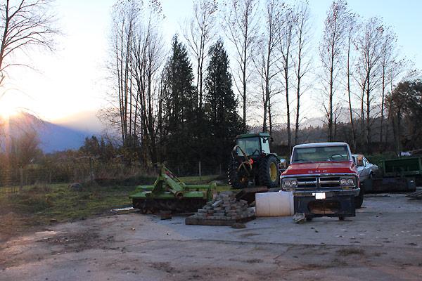 View fra gården i Canada
