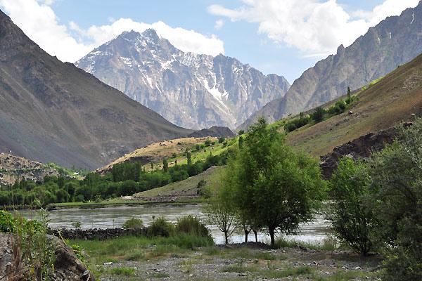 De smukke Pamie-bjerge i Tadsjikistan