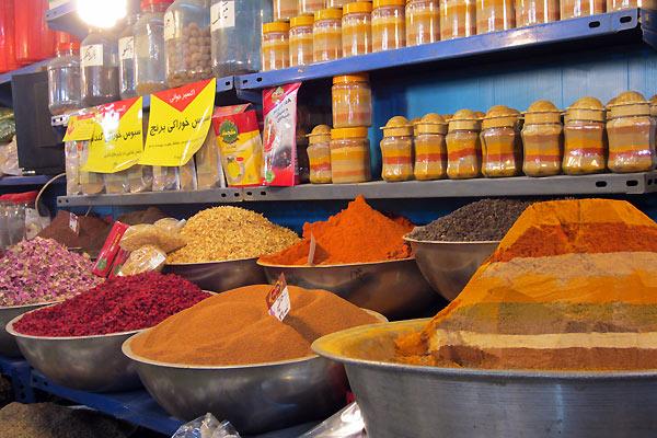 Krydderimarked i Iran