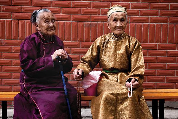 Gamle mennesker i Mongoliet