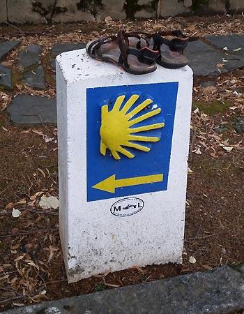 Pilgrimssten på Caminoen