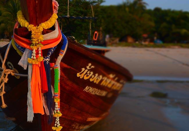 båd ved Koh Yao Yai i Thailand
