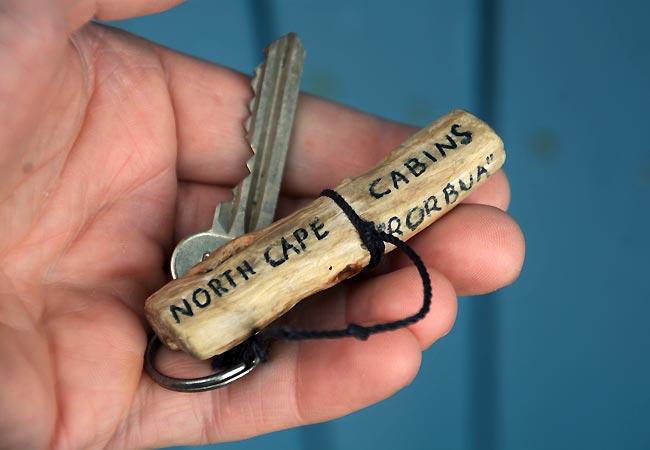 Nøgle til hytte i Nordnorge