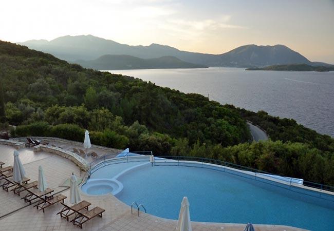 Skøn udsigt over Meganisi i Grækenland