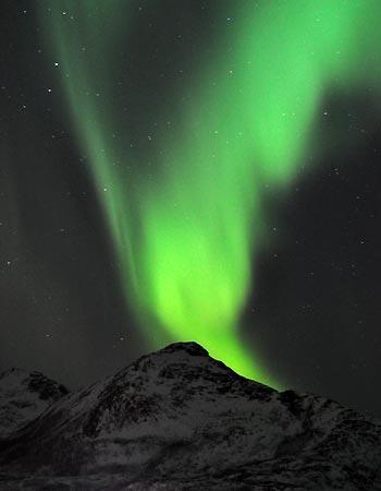 Smukt nordlys i Norge