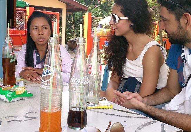 Samtale med guide i Bangkok