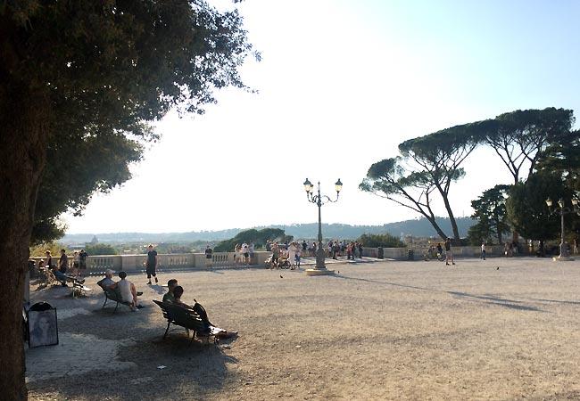 Smuk udsigtsplads i Rom