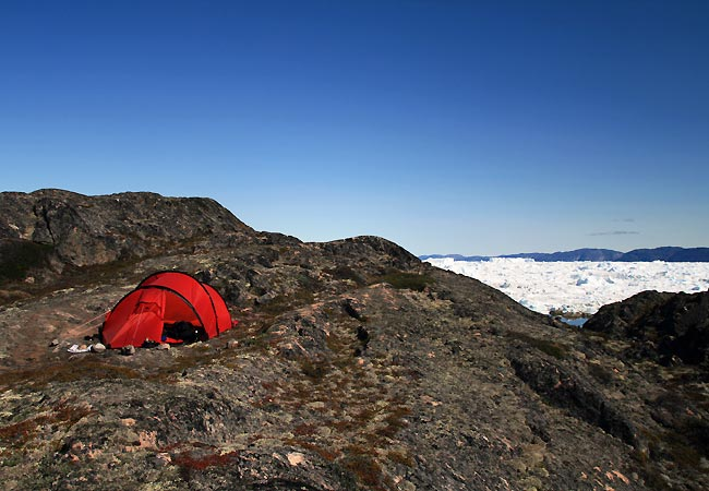 Teltplads ved Ilulissat