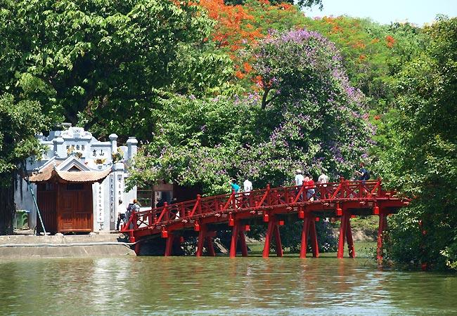 Hoan Kiem-søen i Hanoi, Vietnam