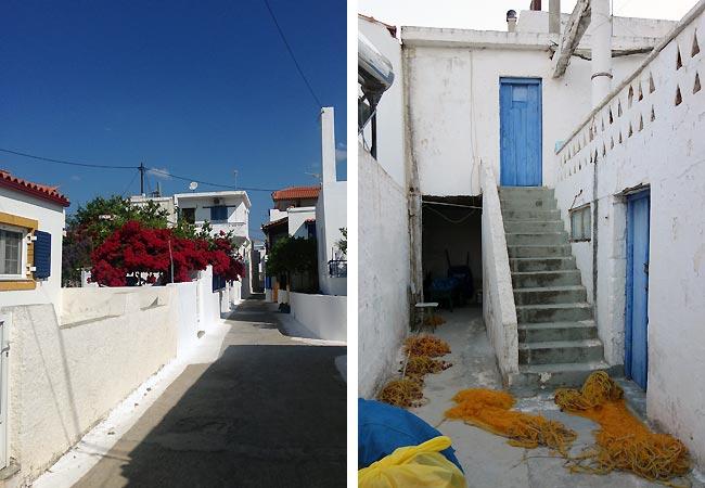 Smukke hvide huse i Elafonisos
