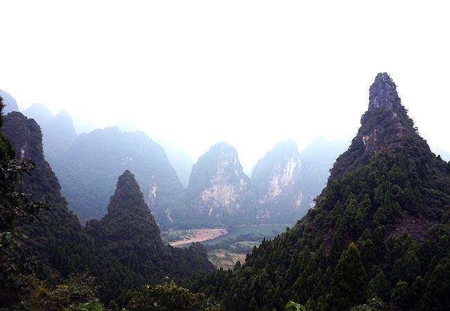 Enestående natur ved Langshi i Kinal