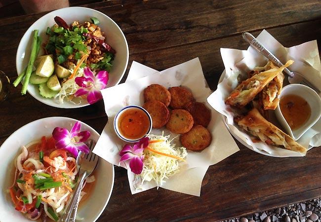 Lækker mad i Chiang Mai i Thailand