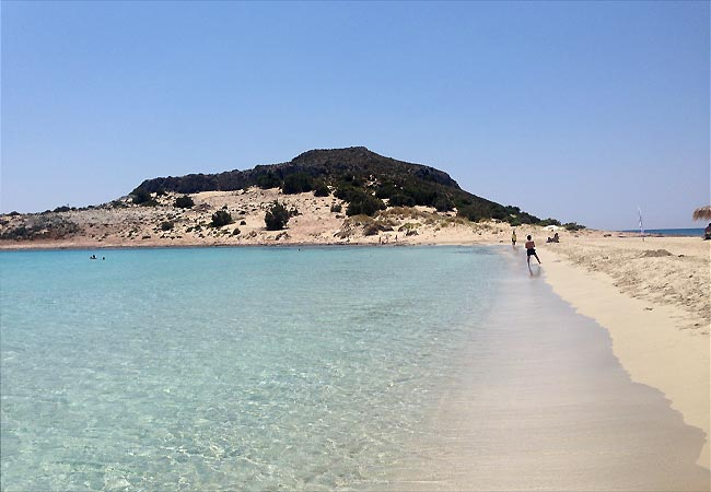 Strand på Elafonisos
