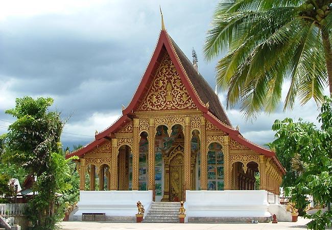 Tempel i Luang Prabang i Laos