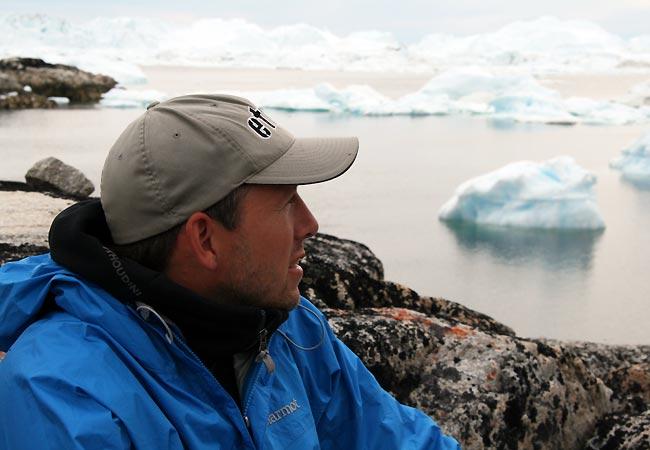 Toni nyder udsigten ved Ilulissat